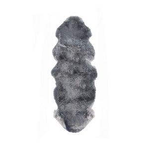 Image of 676685001764 Natural-New Zealand Sheepskin Rug Double Rug Grey
