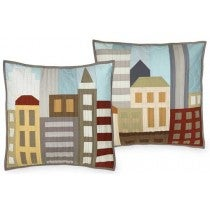 Image of Tiny Town Throw Pillow Cover Quilt Patterns