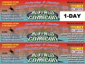Image of Single Day Buffalo Comicon Ticket SALE (for Sept 2016 event)