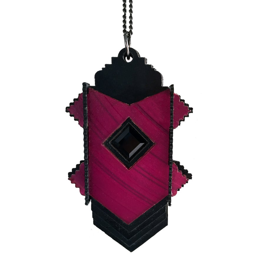 Image of Stepped Deco Swarovski Pendant