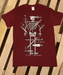 Image of 'Skeleton' Maroon T shirt