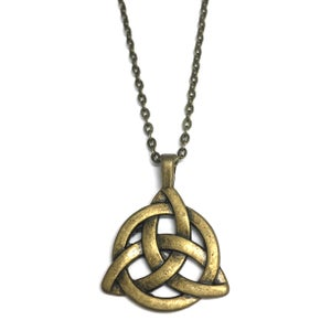 Image of Chunky Celtic Triquetra Charmed Necklace