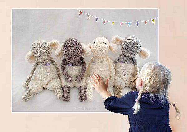 """Image of Print DIN A2 """"Mary's Little Lamb"""" / Plakat DIN A2 """"Unschuldslämmer"""""""