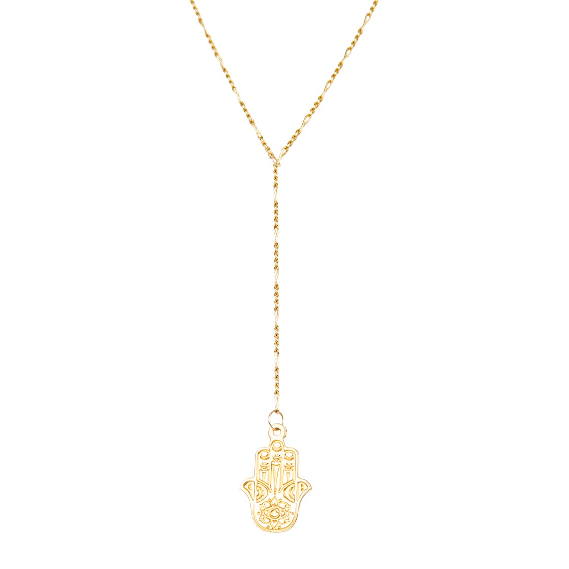 Image of HRCharmed HAND OF FATIMA Lariat Necklace