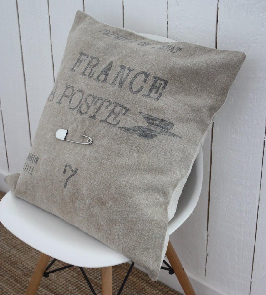 Image of Grand coussin oreiller La Poste.