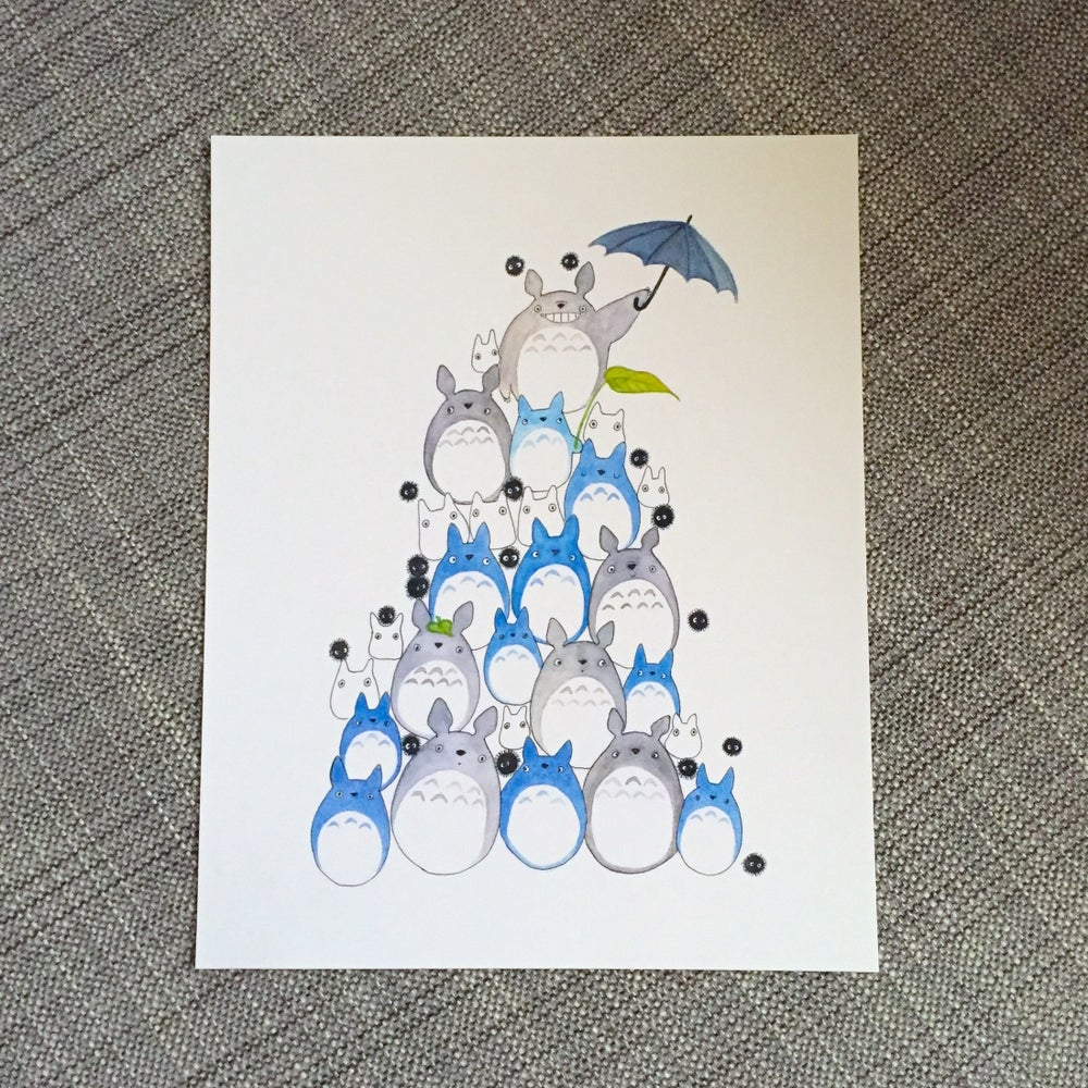 Image of totoro pile print
