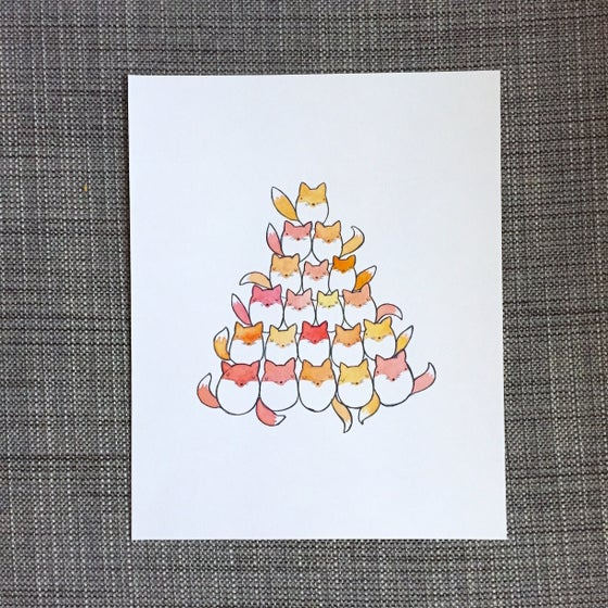 Image of fox pile print