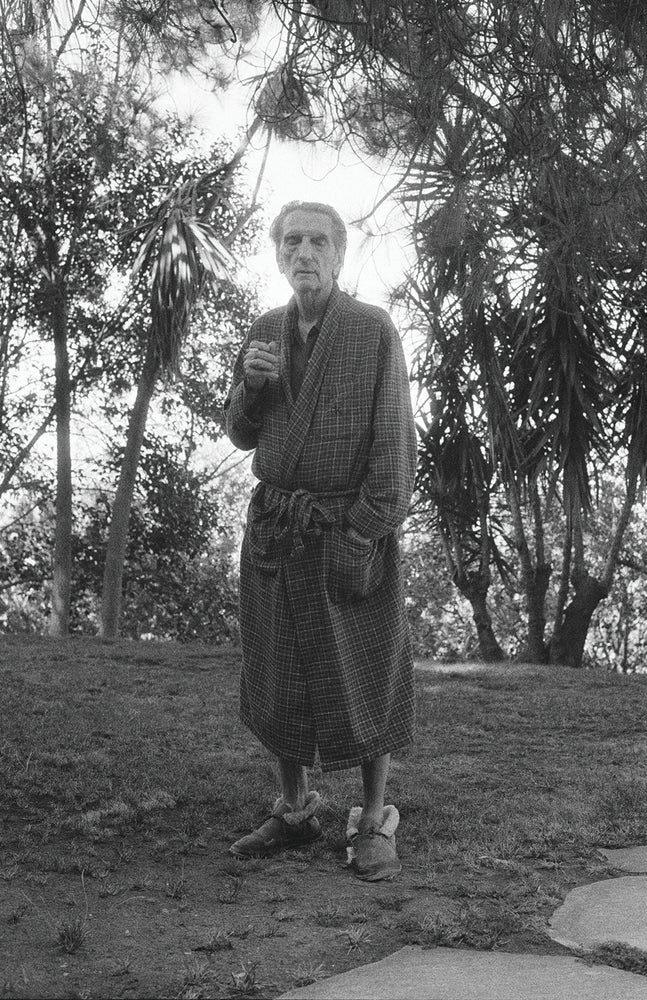 Image of Harry Dean Stanton at home.