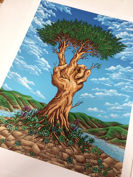Image of Peace Tree Art Print by Emek
