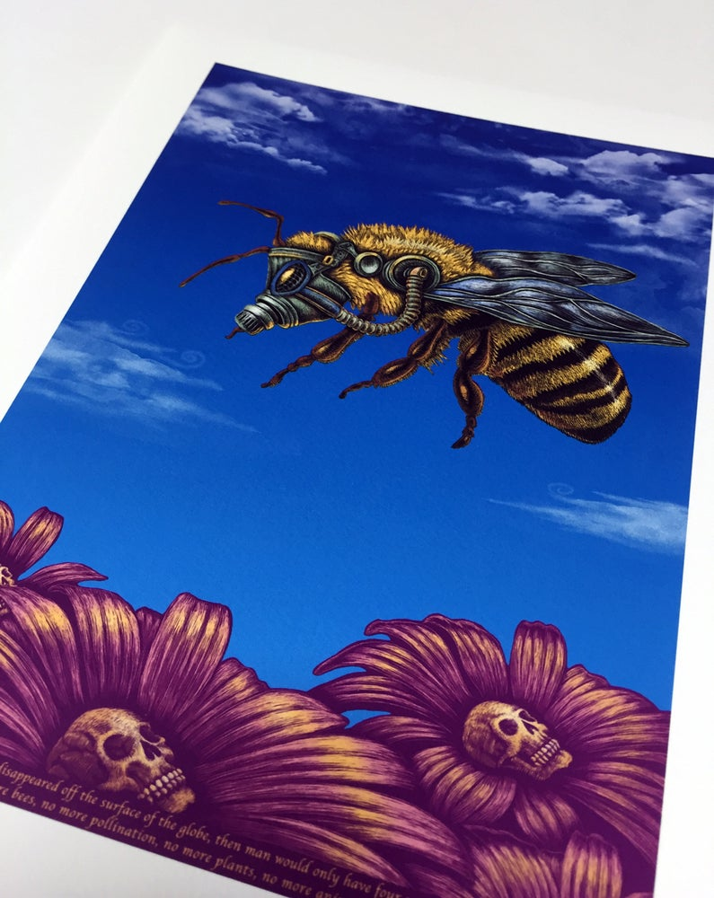 Image of Bee Art Print by Emek