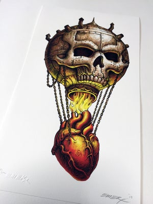 Image of Skull Balloon Art Print by Emek