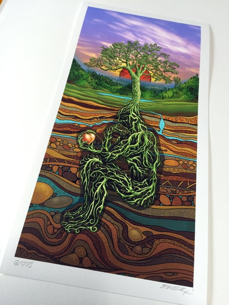 Image of Rootman Day Art print by Emek