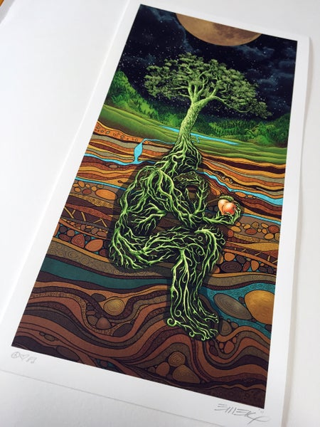 Image of Rootman Night Art Print by Emek