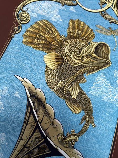 "Image of Decemberists ""Flying Fish"" Small poster by Emek"