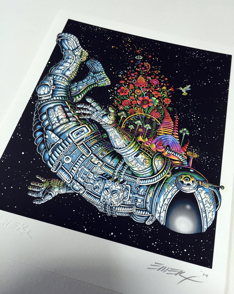 Image of Flower Astronaut Art Print by Emek