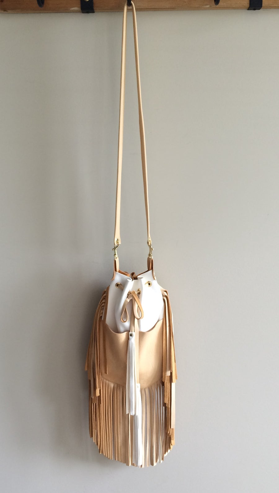 Image of luxury two tone Stevie crossbody