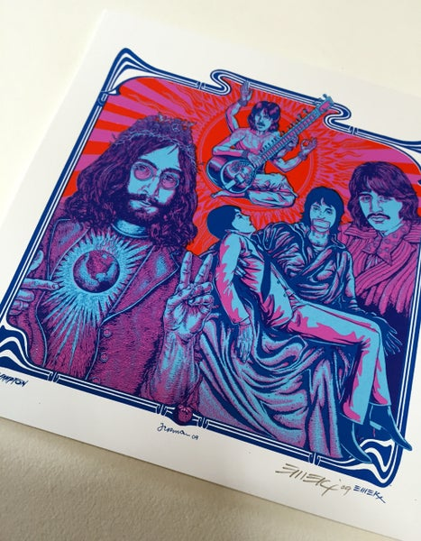 Image of HandBill Beatles Pink/Blue by Emek