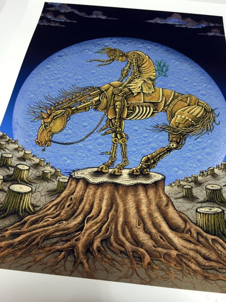 Image of End of Trail Art Print on Paper by Emek