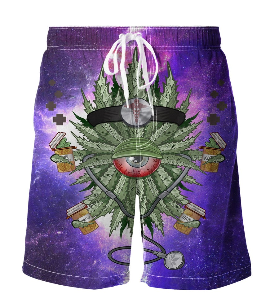 Image of Dr. HighClops In Space Boardshorts