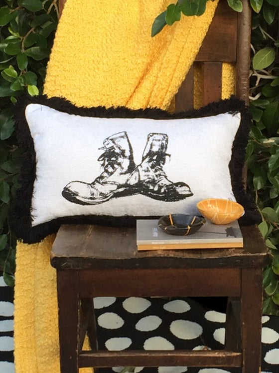 Image of Boots Pillow | 12x20"