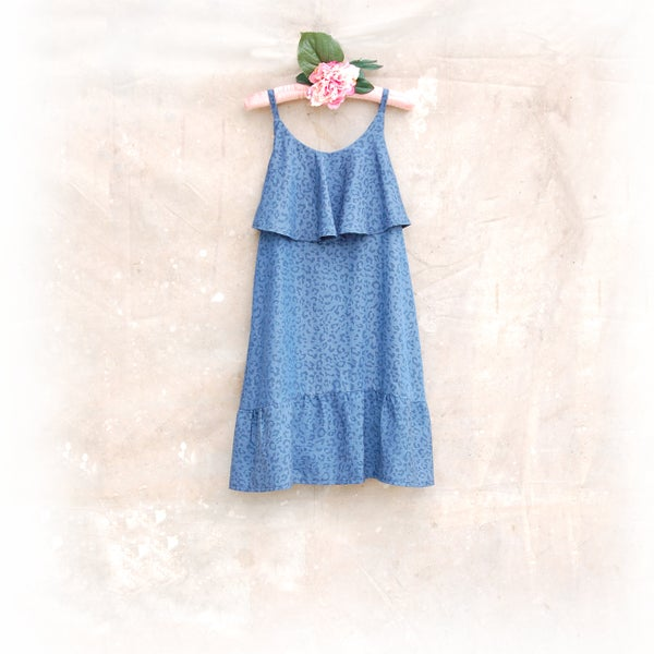 Image of 'Denim Days' Breastfeeding Mini Maxi Dress