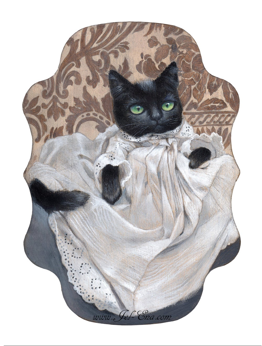 """Image of """"Maurice Edward Victorian Cat"""" Limited Edition Fine Art Print"""