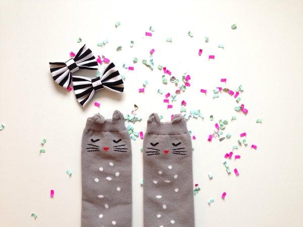 Image of Bashful Kitty Socks