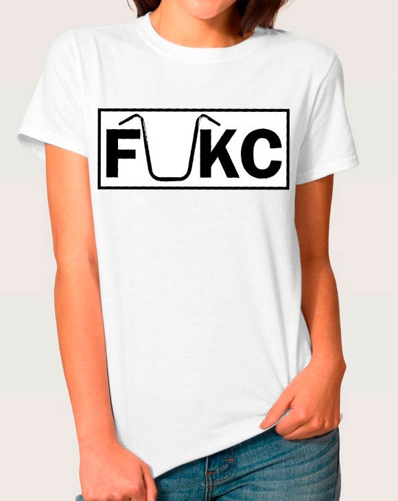 Image of FUKC WHITE T-SHIRT WOMAN