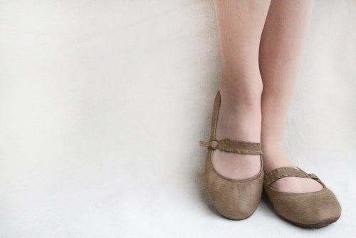 Image of Mary Janes - Chocolate twist - Handmade Leather foldable ballet flats