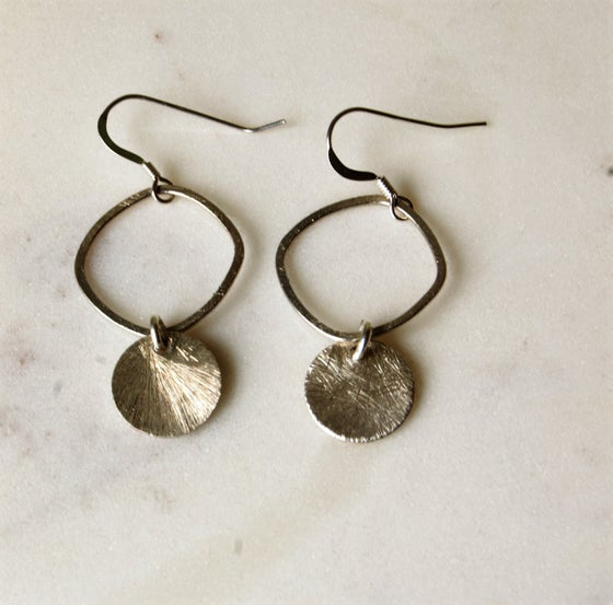 Image of Organic brushed Silver Earrings