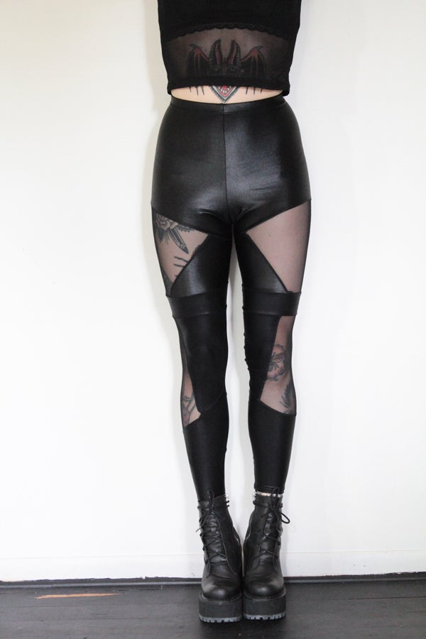 Image of Fierce Mesh Leggings