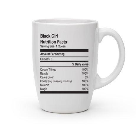 Image of Black Girl Nutrition Facts Mug