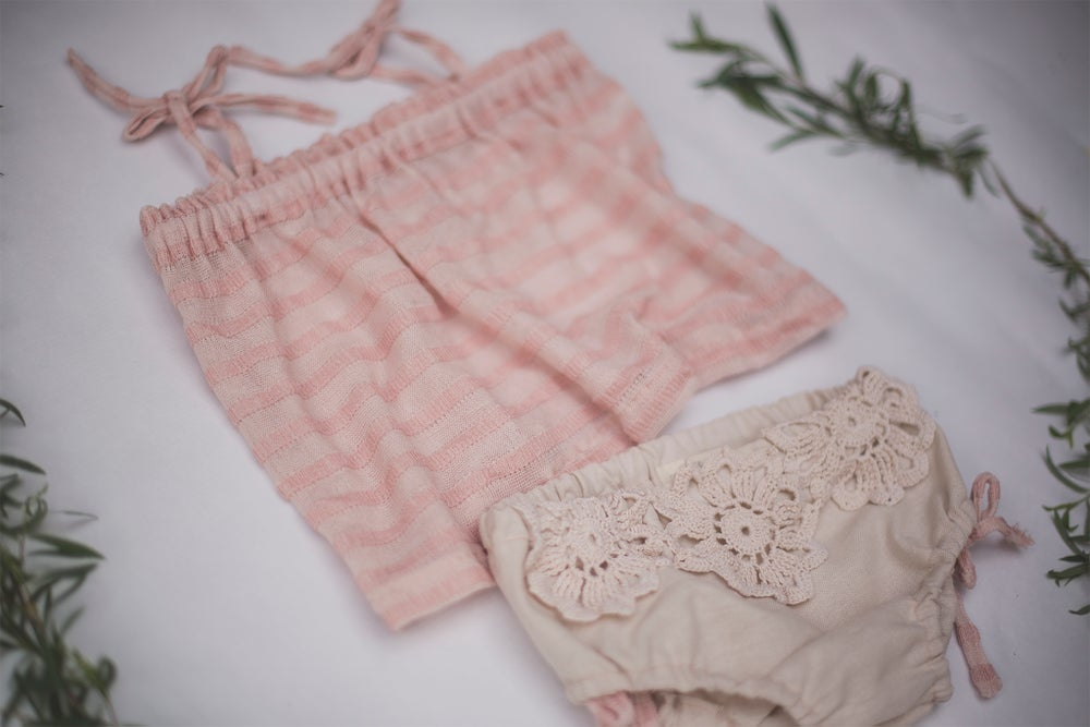 Image of Sitter Summer Top & Diaper Cover