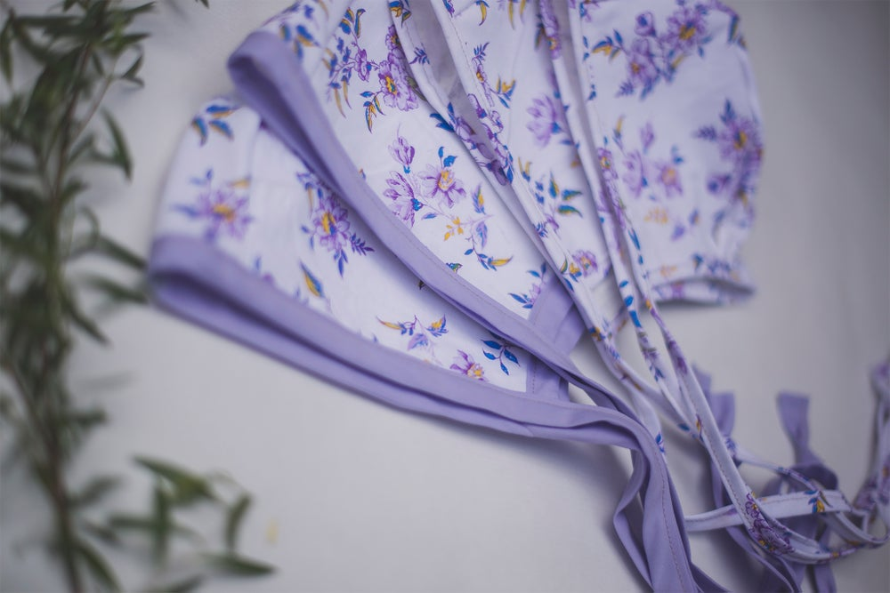 "Image of ""Azalea"" Sitter Bonnet - Lavender"