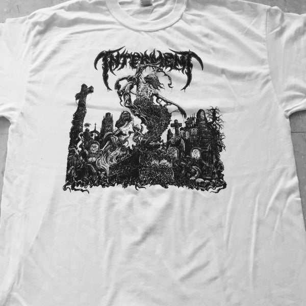 "Image of INTERMENT ""Scent Of The Buried"" White T-Shirt"