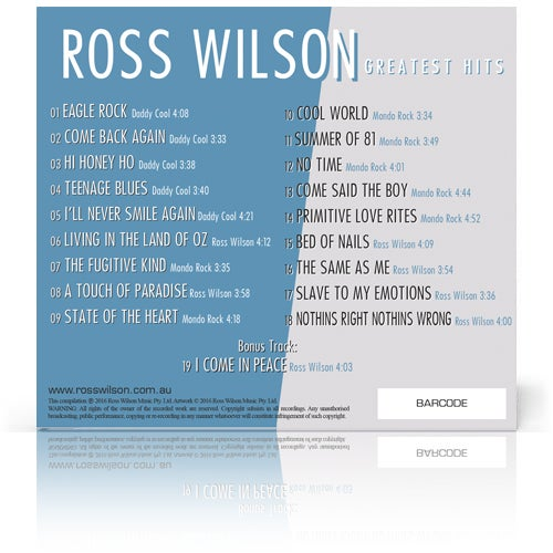 Image of Ross Wilson Greatest Hits (CD)