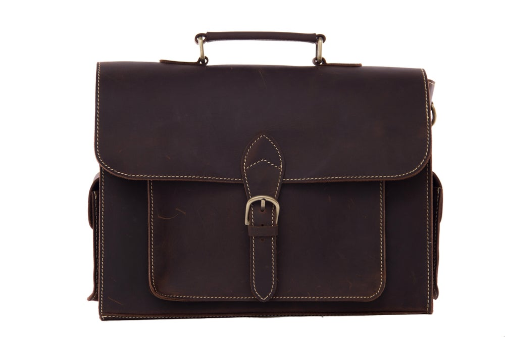 Image of High Quality Genuine Leather Briefcase Men Messenger Shoulder Bag Men Handbags 9098