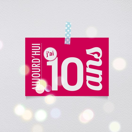Image of 10 ans - Carte postale