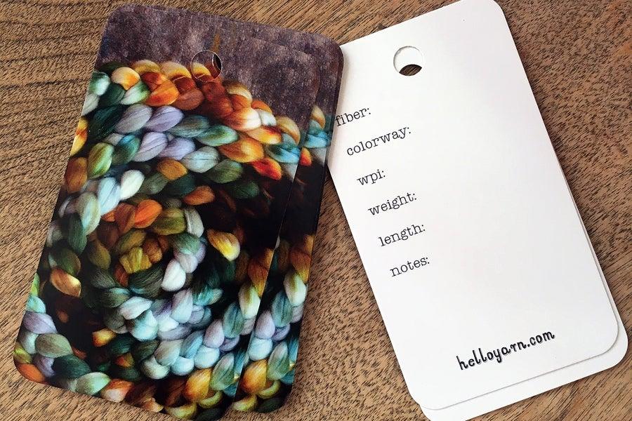 Image of Handspun Yarn Tags- Set of 15