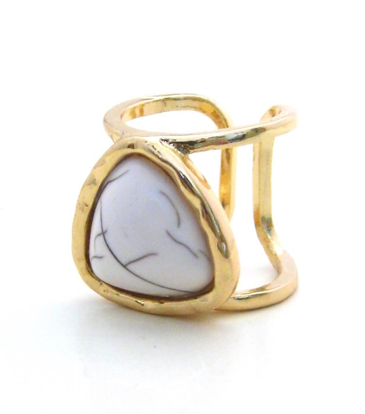 Image of Stone Open Cage Ring (More Colors)
