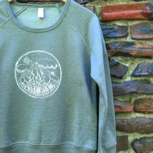 Image of Mountain Scene- NEW Organic Blend Women's Sweatshirt