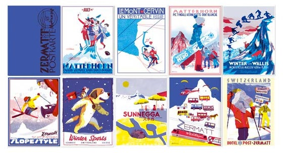 Image of 9 Postcards Set
