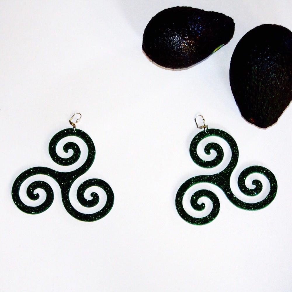 Image of Celtic Triskelion Earrings - Rounded |Marina Fini|