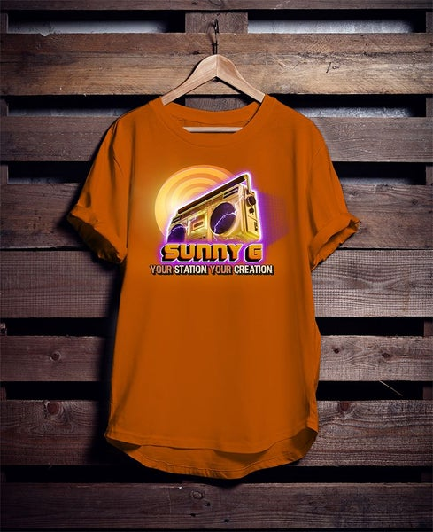 "Image of ""your station your creation"" - Sunny G Radio T-shirt"