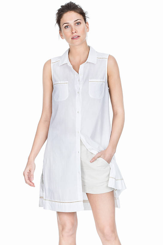 Image of Lilla P Woven Cotton Tunic