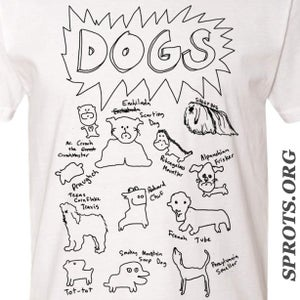 Image of DOGS Screen Printed T Shirt