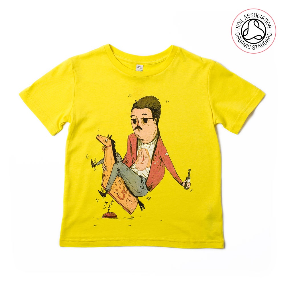 Image of Rocking Man Yellow Kids-T (Organic)