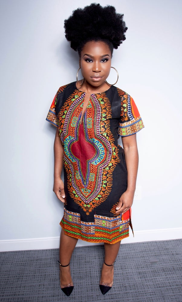 Image of Cedya HANDSTONNED Dashiki Dress