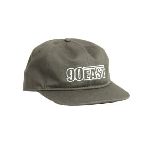 Image of 90East Hollow Logo Unstructured Hat Army Green