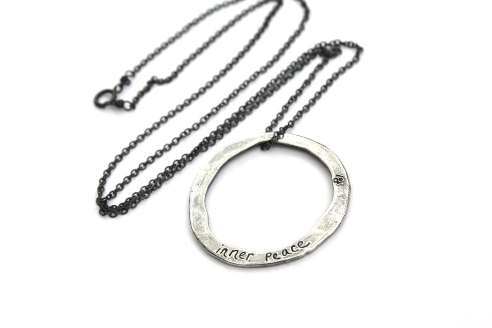 Image of Inner peace talisman necklace . Sterling silver